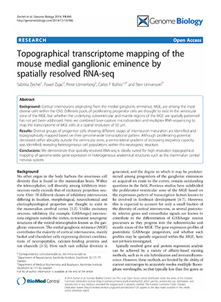Topographical transcriptome mapping of the mouse medial ganglion